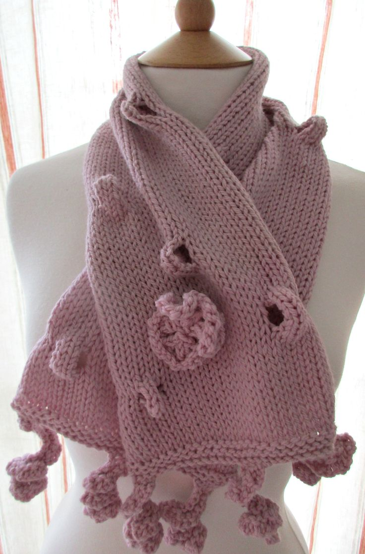 Bumps and Twirls Scarf Blossom