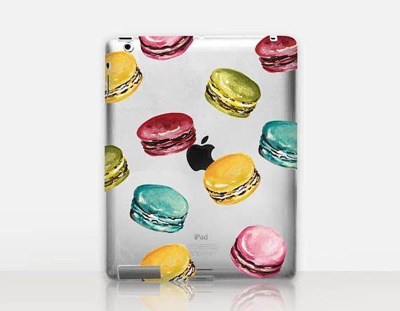 Macaron Transparent iPad Case For  iPad 2 iPad 3 iPad 4
