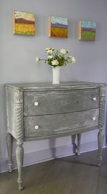beautiful gray dresser.