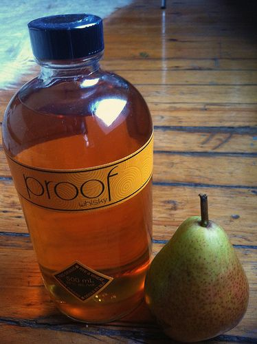 Pears preserved in a light syrup & whiskey!!