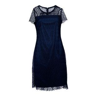 Bianca Navy Mesh Dress