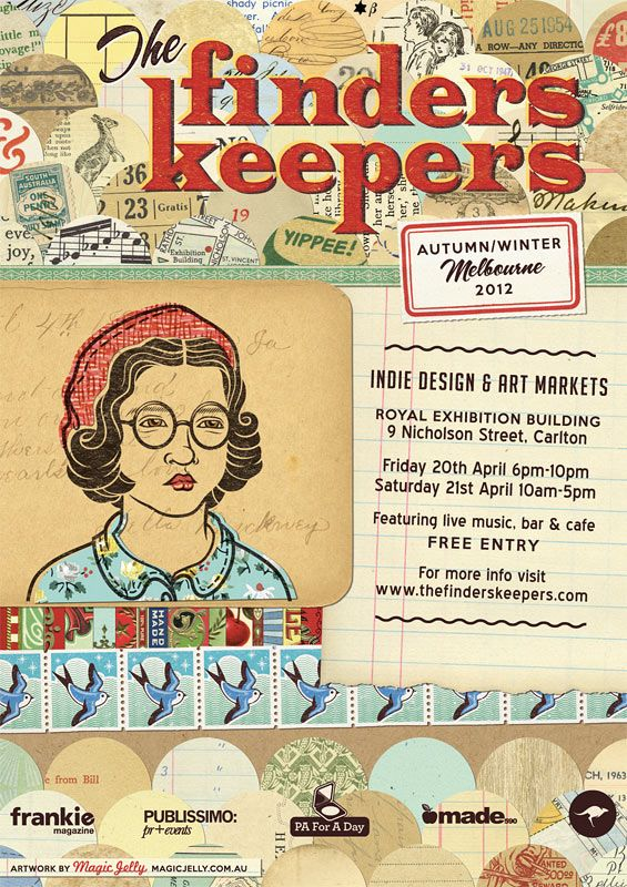 A poster I designed for The Finders Keepers Melbourne Market.