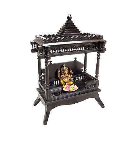 Saffron Beautifully Carved Temple