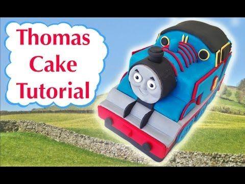 Thomas Train Birthday Cake. 11 minute tutorial, nice.