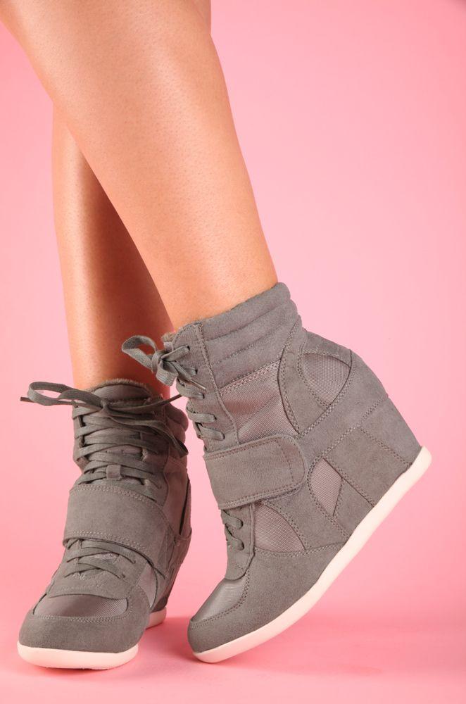 Sneaker Wedge Gray