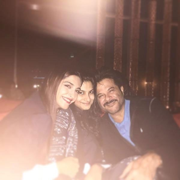 Anil Kapoor celebrated birthday with daughters Sonam, Rhea in Dubai.