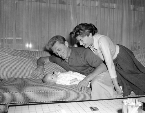 Kirk Douglas with Wife, Anne Buydens.