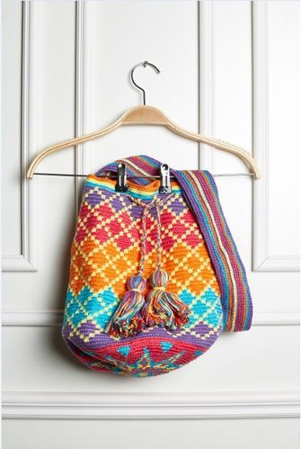 Wayuu bag Free crochet pattern wayuu bag here: DIAGRAM HERE