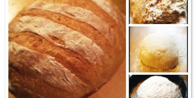 Brood zonder kneden met knapperige korst - Es' Factory