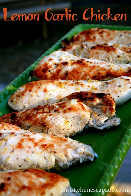 A simple baked chicken recipe using lemon and garlic! So delicious and packed with flavor.
