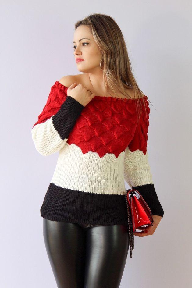 1e0e360d19 Blusa em tricot (tricô)