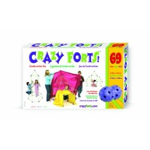 Crazy Forts! A great gift for any boy or girl who likes to make forts at home! I gave this as a gift for 3 and 7 year old sisters and they had a blast! $42.36 on Amazon!
