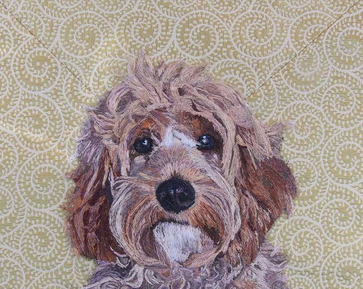 Miss Darcy Freehand Machine Embroidery Portrait Commission by Art Sea Craft Sea