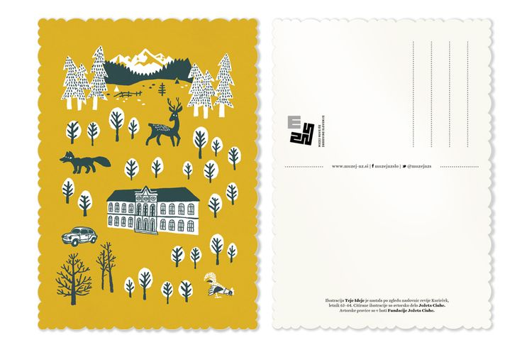 Postcard for National Museum of Contemporary History  It was an honor to illustrate and design postcards for National Museum of Contemporary History of Slovenia. Postcards are avalible exclusively at the Museum.