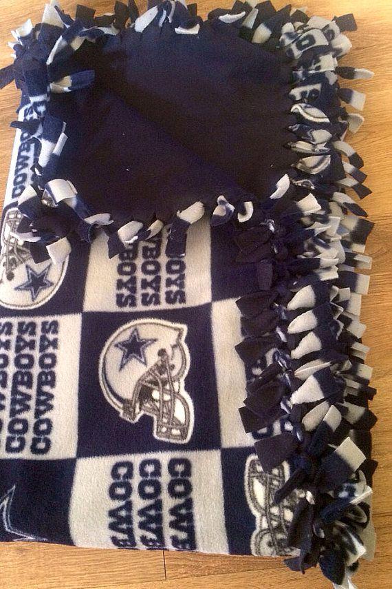 Dallas Cowboys Tie Blanket by CarnedasCreations on Etsy, $65.00