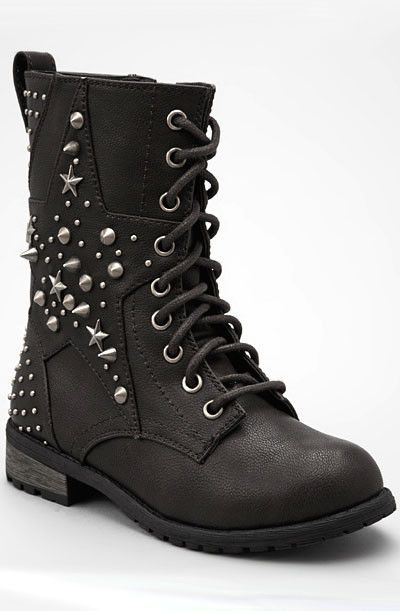 Star Studded Combat boots