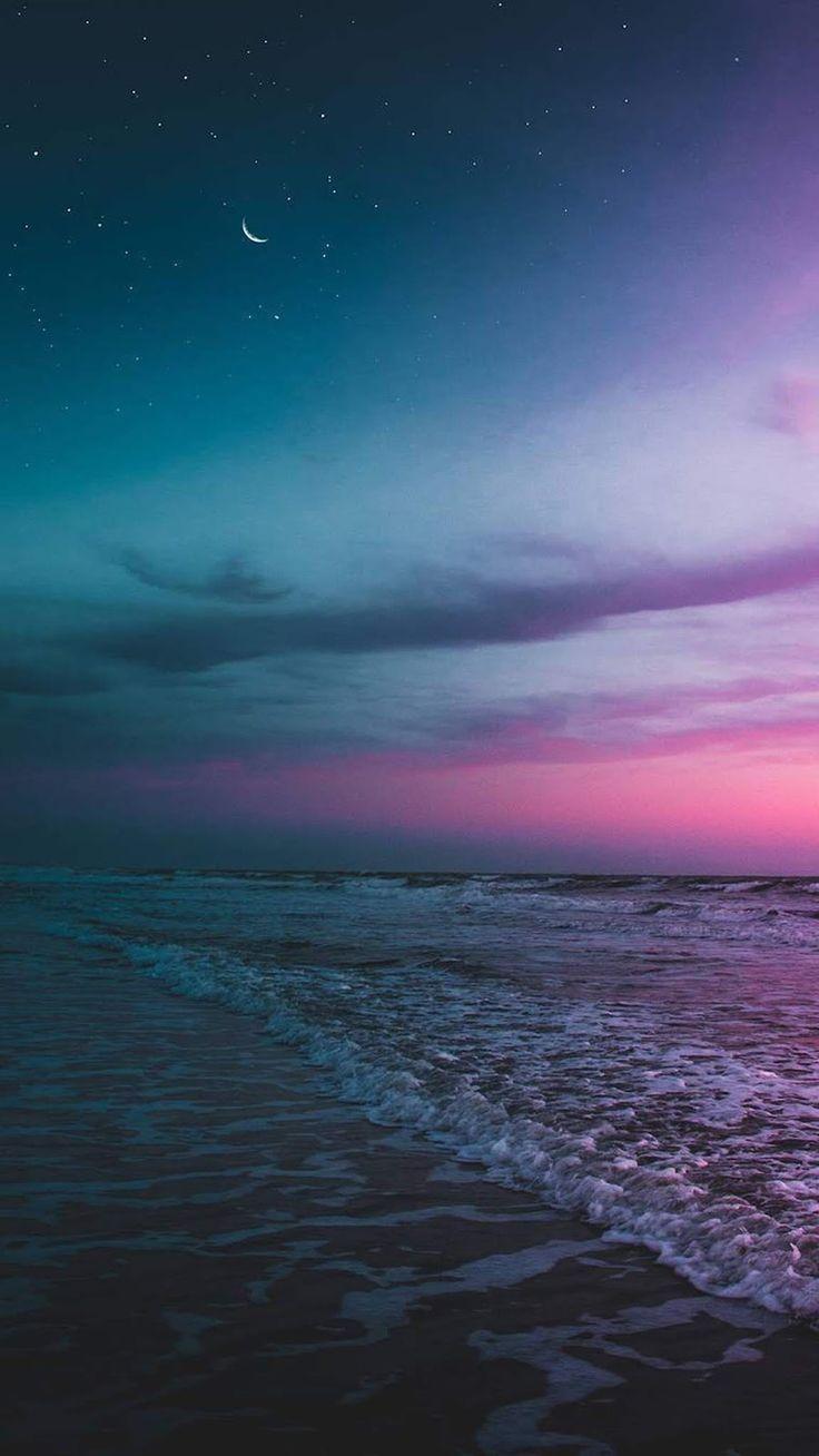 Beach The Night Sky Wallpaper Iphone Android Background Followme Night Sky Wallpaper Night Skies Beach Night