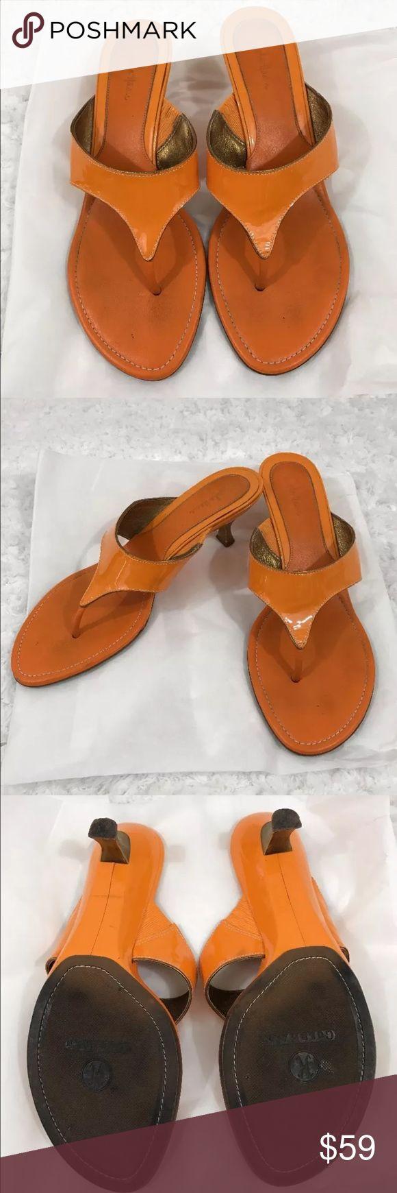 Cole Haan leather shoes slides sandal Pump size 8 This item is pre-owned Cole Haan leather slides sandal size 8 orange and gold excellent condition Cole Haan Shoes Sandals