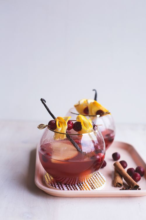 Slow Cooker Winter Rosé Sangria