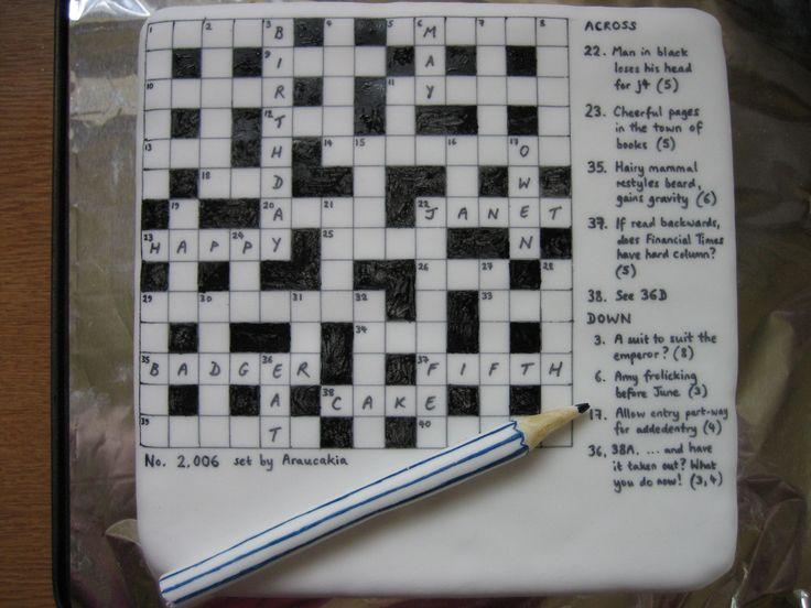 Crossword puzzle cake ideas pin decorating