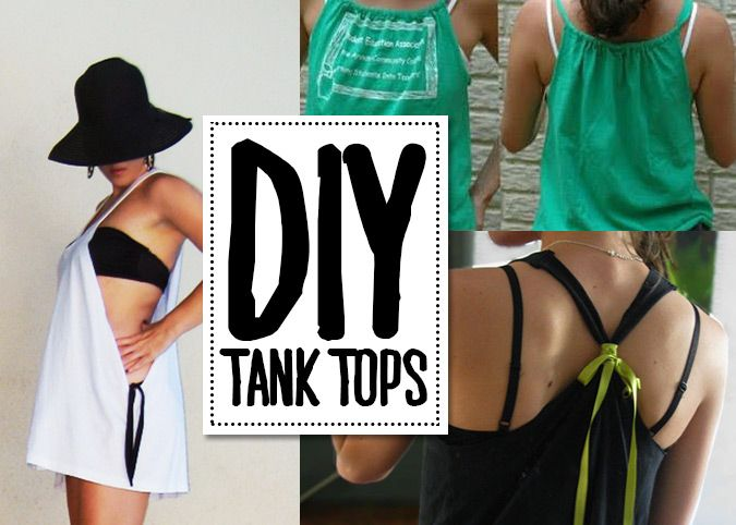 DIY tank top from t-shirt tutorials