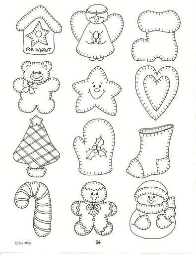 Moldes y dibujos de navidad para manualidades II - Manualidades en Goma Eva