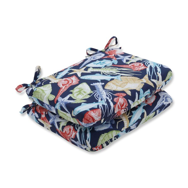 Pillow Perfect Outdoor/ Indoor Keyisle Regata Rounded Corners Seat Cushion