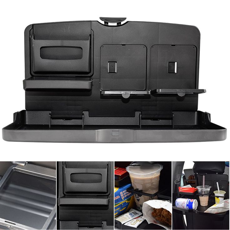 Universal Black Car food tray folding dining table drink holder car pallet back seat water car cup holder ABS ME3L