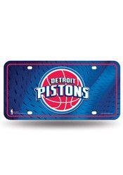 Detroit Pistons Blue Metal Car Accessory License Plate