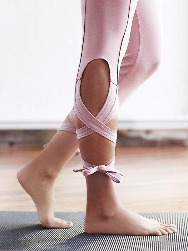 Grey NWT Free People Movement Turnout Yoga Capris Skinny Turnout Wrap Legging