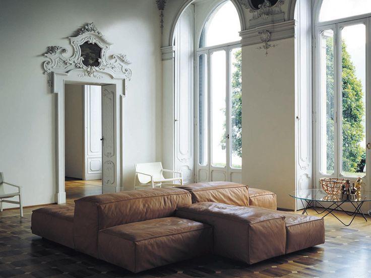 Modular upholstered sofa EXTRASOFT by Living Divani   design Piero Lissoni
