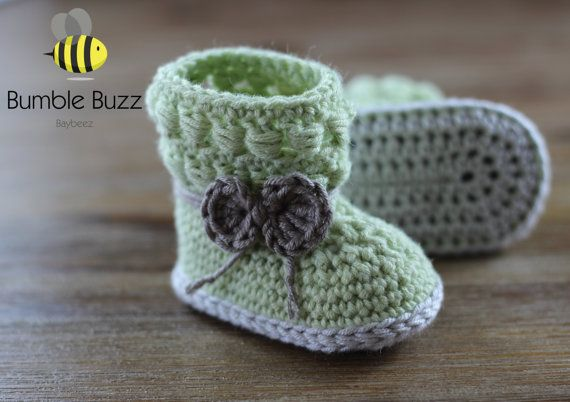 Willow  Baby Uggs / Booties / Shoes 0-3 by BumbleBuzzBaybeez