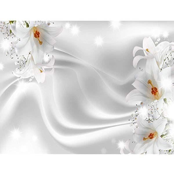 Fototapetenn Blumen 3d Lilien Weiss 352 X 250 Cm Vlies Wand Tapete