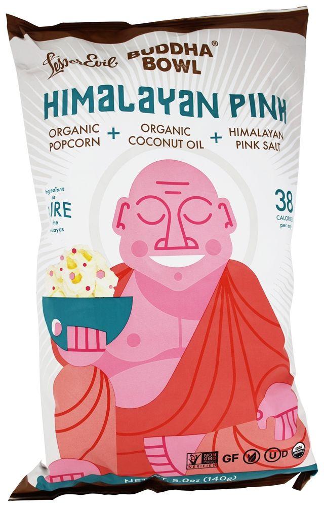 Buy Lesser Evil - Buddha Bowl Organic Popcorn Himalayan Pink -CLEAN & helathy POPCORN...YUMMY