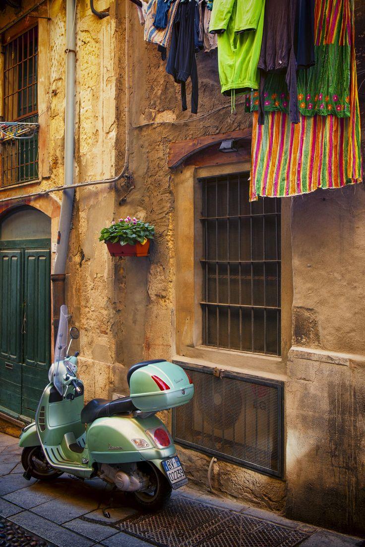 Vespa in Sardinia, Italy