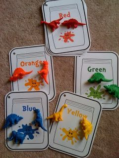 Preschool Printables. Color sorting.