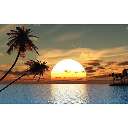 14 best images about wall murals on pinterest beach for Beach sunset mural