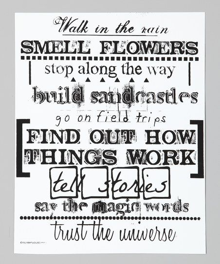 find out how things work. love that. :: print by IScreenYouScreen - except I trust God, not the universe, but great thoughts!