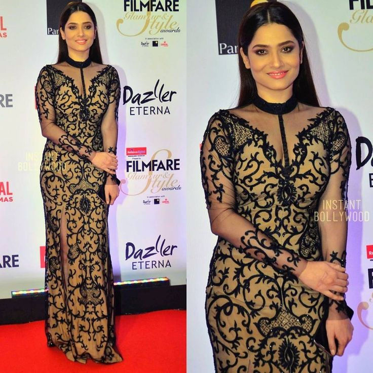 Pretty girl Ankita Lokhande on the red carpet of the Filmfare Glamour and Style Awards.