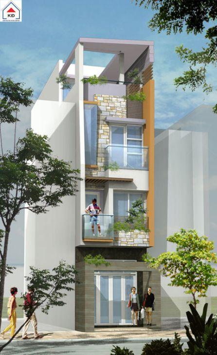 mẫu nhà phố đẹp kiểu dáng hiện đại--thiết kế 9