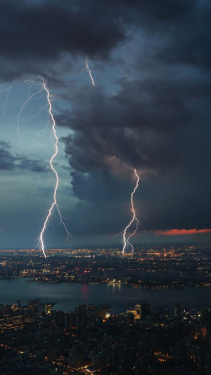 Places Nightcity Thunderstorm Topview Wallpapers Hd 4k Background For Android Storm Wallpaper 4k Background Rain Wallpapers