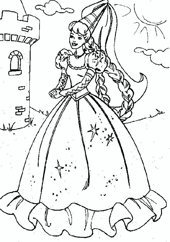 coloring pages barbie as rapunzel - photo#6