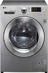 "LG WM3455H 24"" Front Load Compact Washer/Dryer Combo with 2.7 cu. ft. Capacity, 9 Wash Cycles, 6 Dry Cycles, 1300 RPM Spin Speed, LoDecibel Quiet Operation, SenseClean and Ventless"