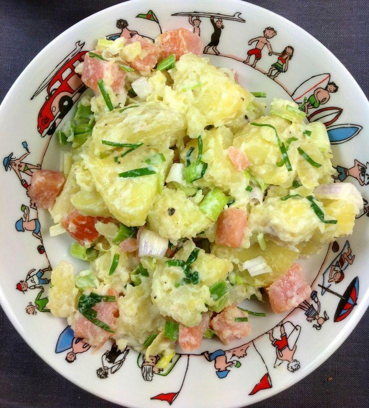 Pommes de terre au saumon fumé plats complets
