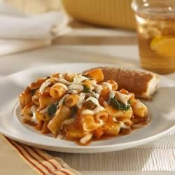 Veggie Lover's Baked Ziti: use italian fontina cheese, shredded ricotta salata, baby spinach, 3 cups sliced mushrooms (a la baked ziti with sausage and vegetables from dinner: a love story)