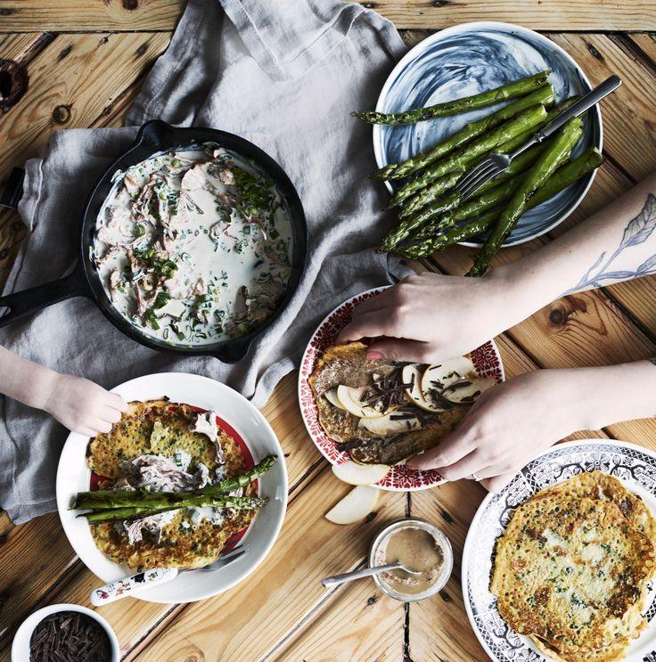 Letut ilman munia, maitoa ja vehnää syntyvät rennosti ruokabloggaaja Hanna Hurtan ohjeella.