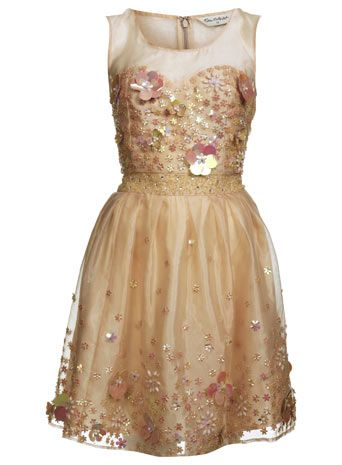 3D Embellished Flower Dress