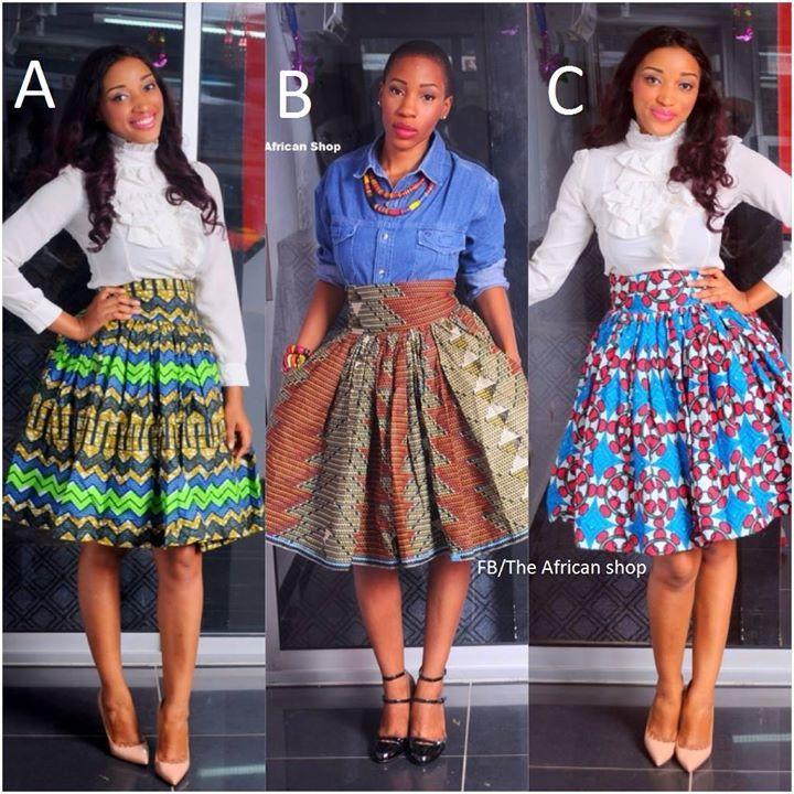African print skirts www.facebook.com/theafricanshop2013