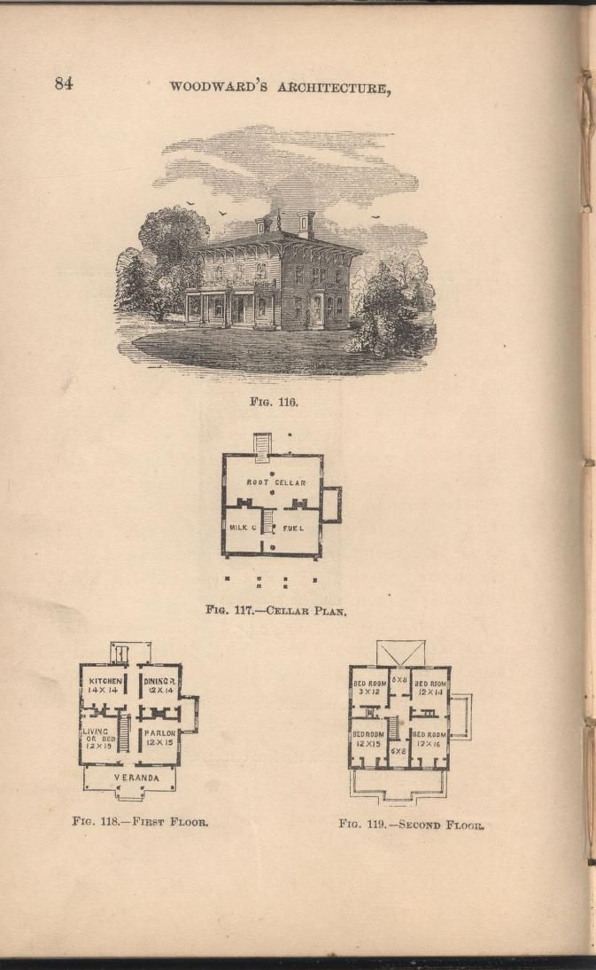 Woodward 39 s cottages and farm houses 1867 geo e for Geothermal house plans