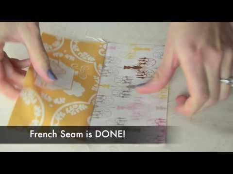 Easy tutorial on how to Sew a French Seam.